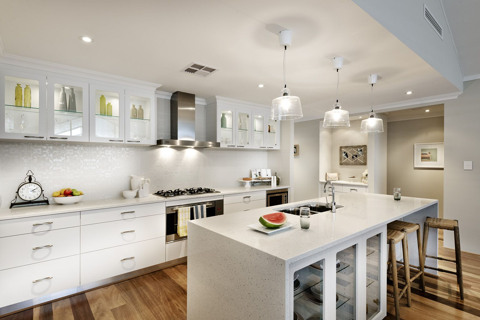white wood kitchen cabinets - http://www.buildpremier.com/wp-content ...