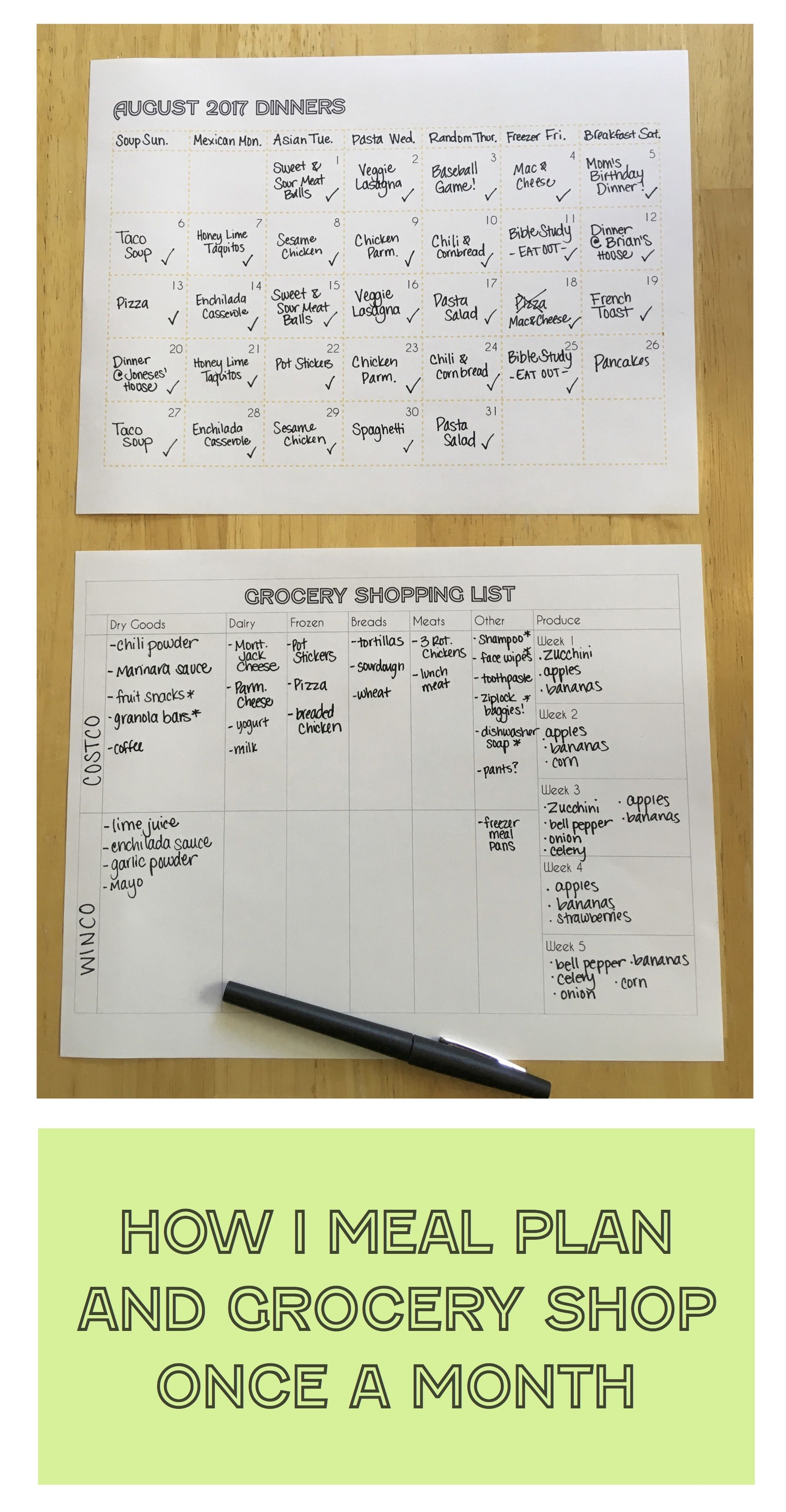 How I Meal Plan and Grocery Shop Once a Month is part of Organization Journal Meal Planning - When I was teaching, I never meal planned  Every night I would get home from work and scramble to throw something together  We ended up eating out a lot! Since retiring from my teaching career at t…