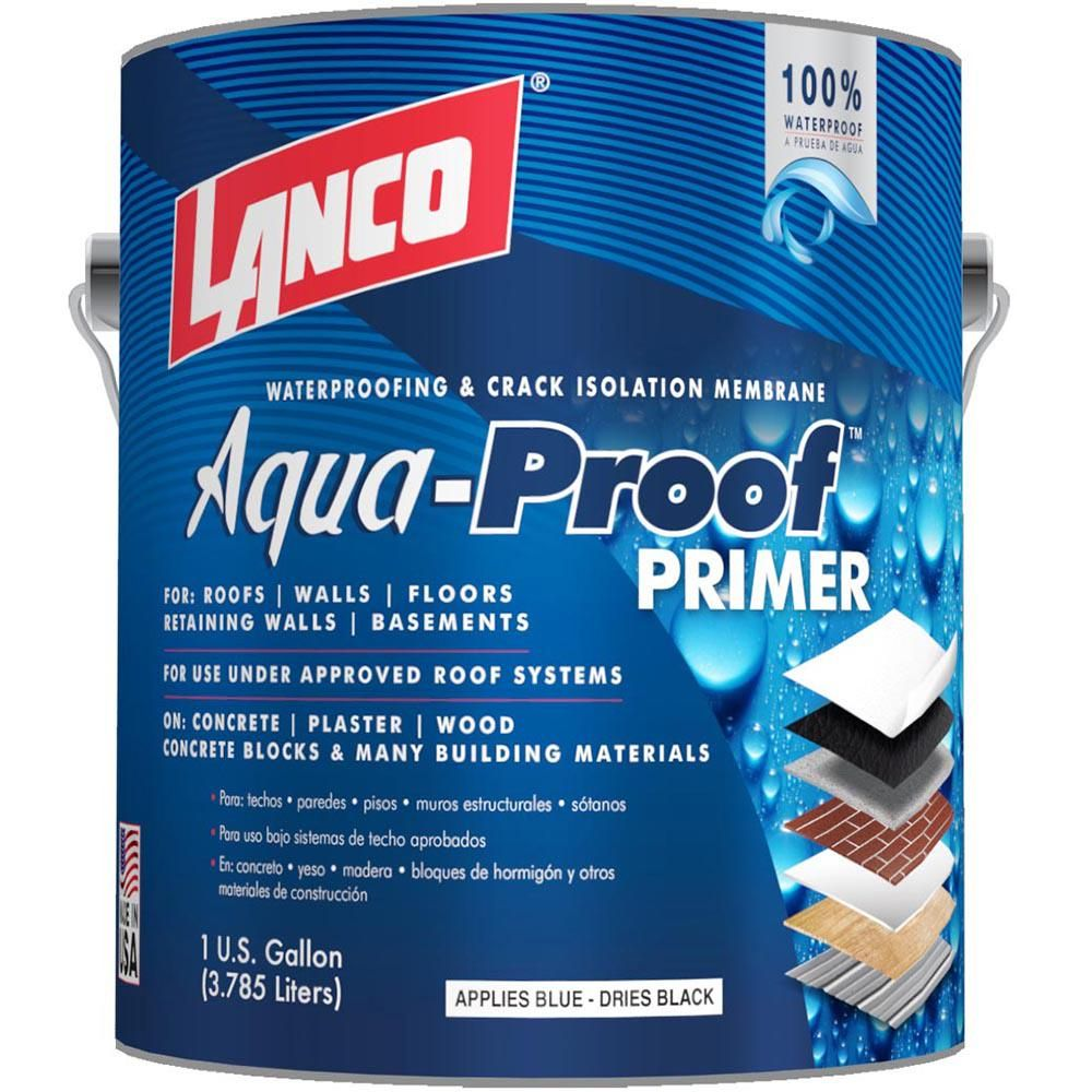 Lanco 1 Gal Aqua Proof Roof Primer Membrane Designed For Multi Surface Waterproofing Applications Md863 4 The Home Depot In 2020 Roof Sealant Reflective Insulation Waterproof Flooring