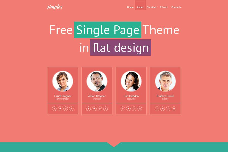 Free single page website template in flat design free website httptemplatemonsterfree templatesfree single page website template flat designputmsourcepinterestmutmmediumtimelineutmcampaign toneelgroepblik Images