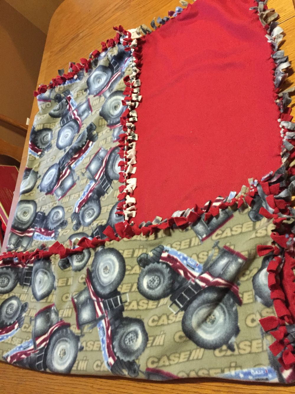 IH tie blanket  55.5 x 51  $30  Ready to be shipped