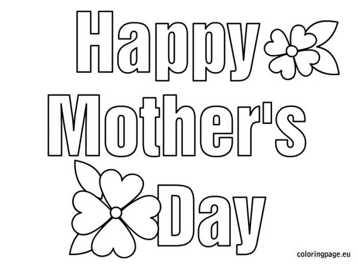 Mothers Day Pictures to Color | Happy Mothers Day | Pinterest