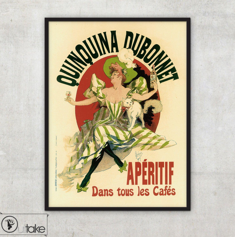 Jules Cheret - Art Print poster - Quinquina Dubonnet - Advertising ...