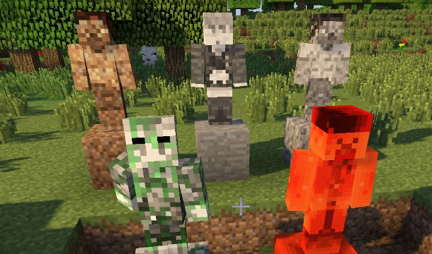 Statues Mod Minecraft 1 6 4 1 6 2 Look