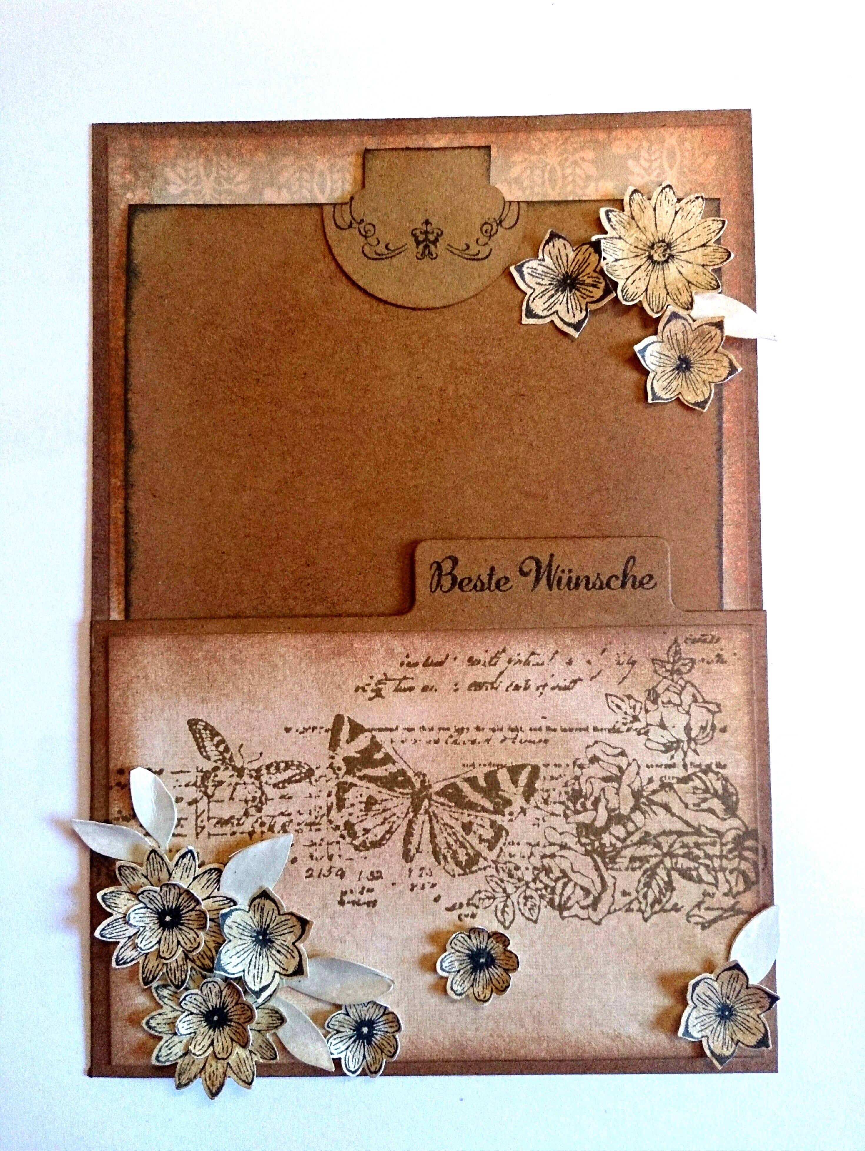 Karte im Umschlag, vintage style