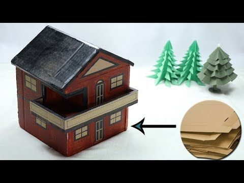 How to make diy cardboard house model for kids best out for Model on best out of waste