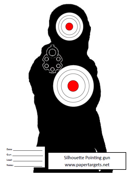 Silhouette Pointing Gun Miscellaneous Shooting Targets