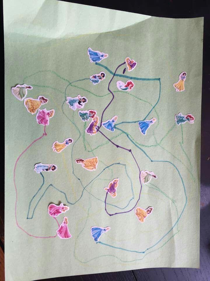 Draw line matching colour dresses