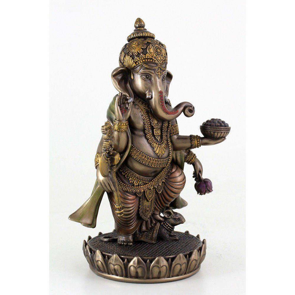 Standing Ganesh Ganesha Hindu Lord Of Success Statue