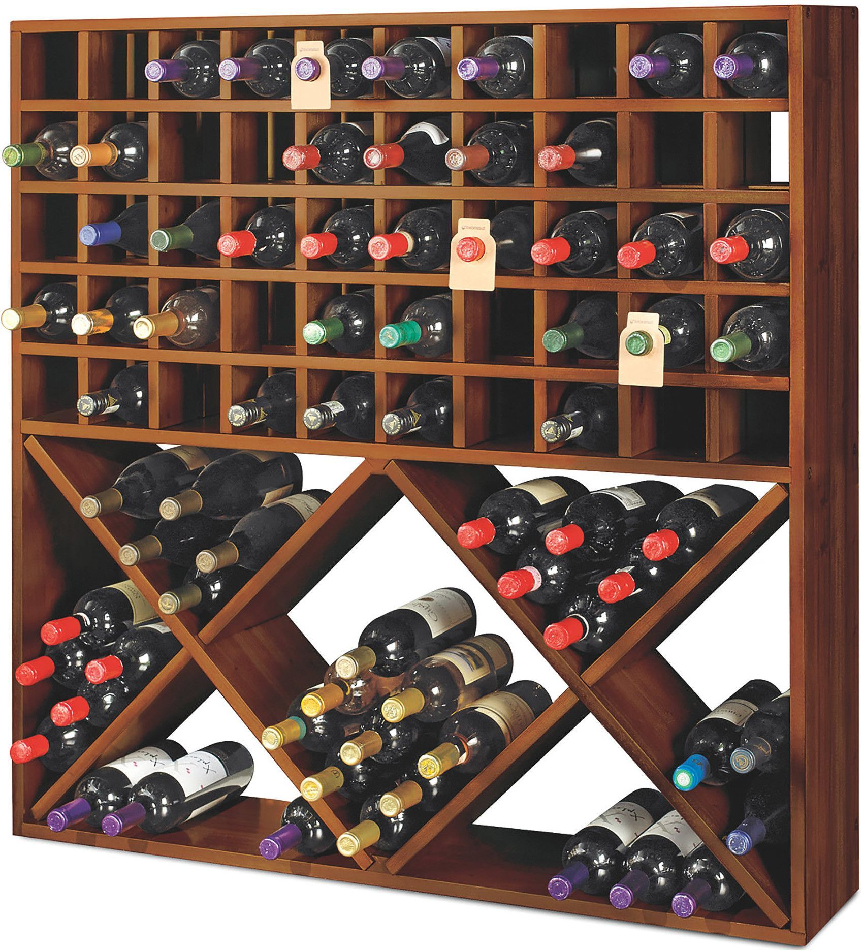 Jumbo Bin Grid 100 Bottle Floor Wine Bottle Rack Wine Rack Wine Bottle Rack Metal Wine Rack