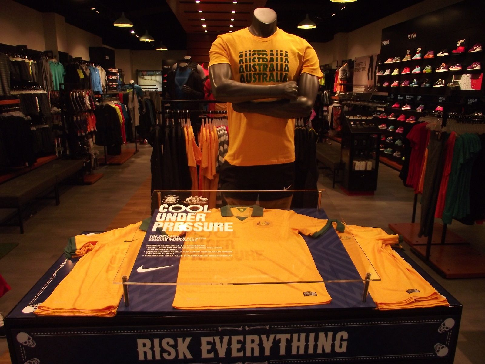 Nike Football retail table display display.