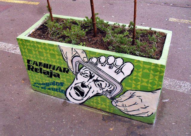 arte colombiano en la carrera séptima de Bogotá