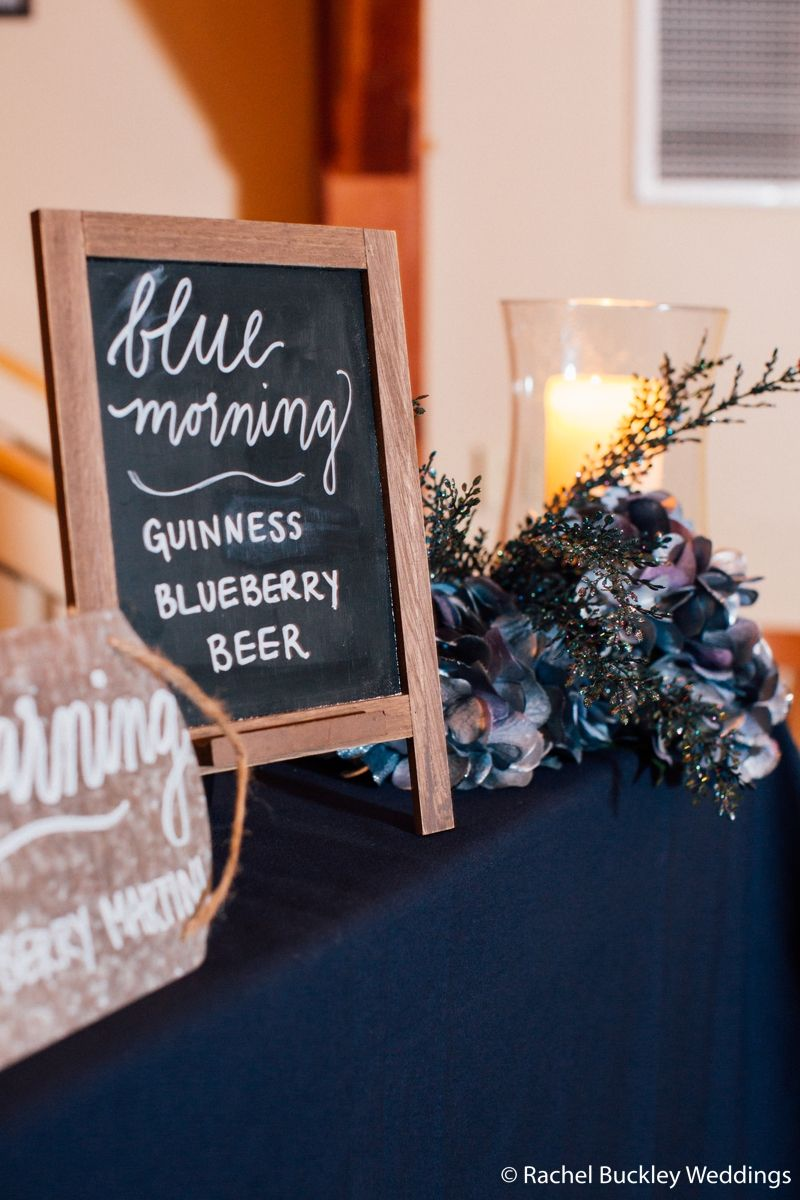 Blue morning signature cocktail guinness blueberry and