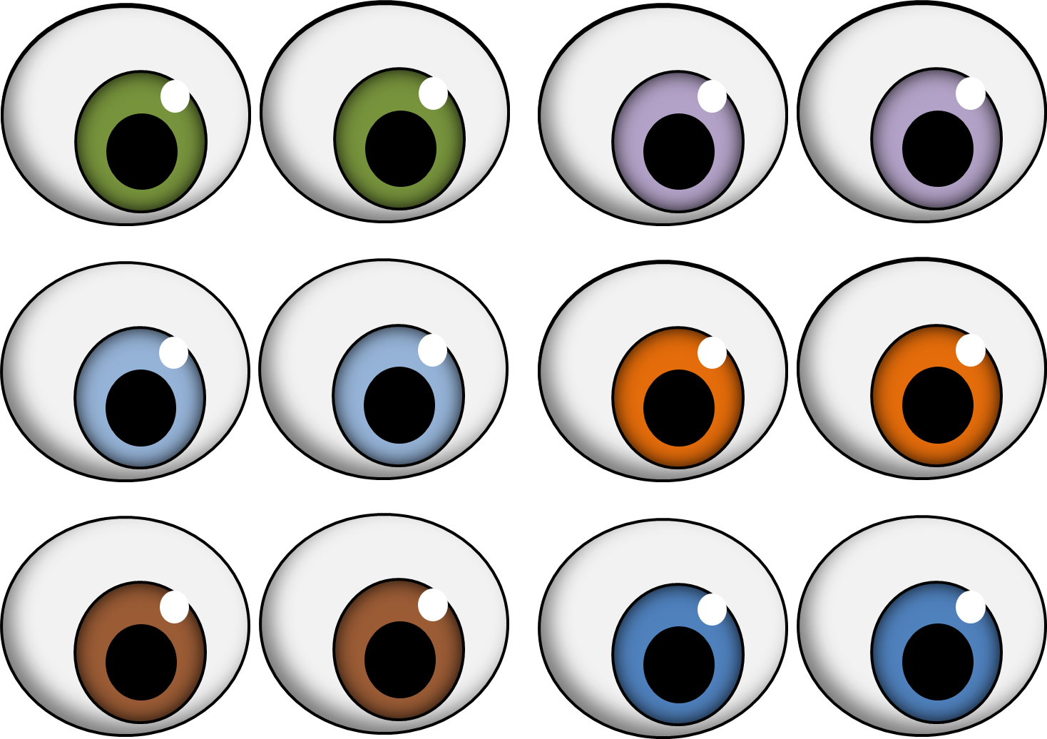oval eyes halloween pinterest eyes eyes clipart and printables