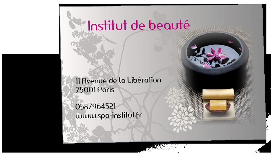 Carte De Visite Zen Ideale Pour Un Spa Ou Institut Beaute