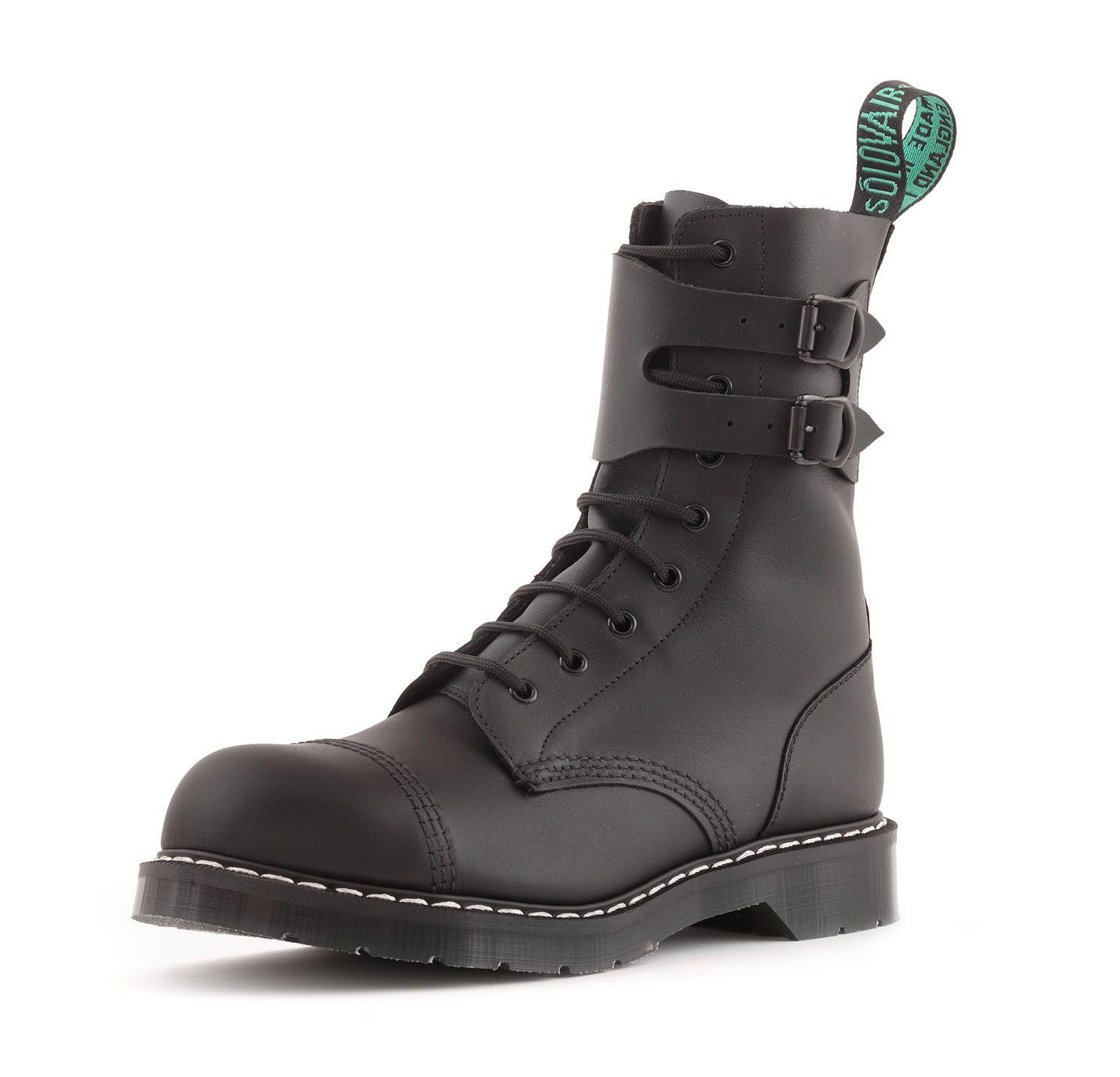 Classic 9 Eye Steel Toe Buckle Boot in Greasy Black. Buckle BootsMen's  BootsShoe ...