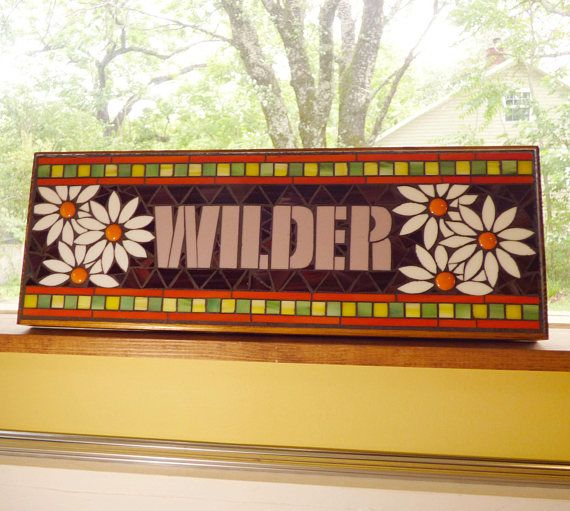 Personalized Mosaic Signs  /  Plaques  Name or Address
