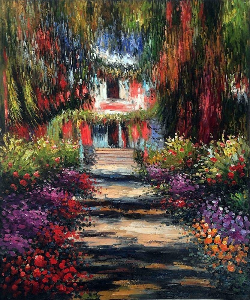 Garden Path At Giverny Monet Painting Reproductions Painting