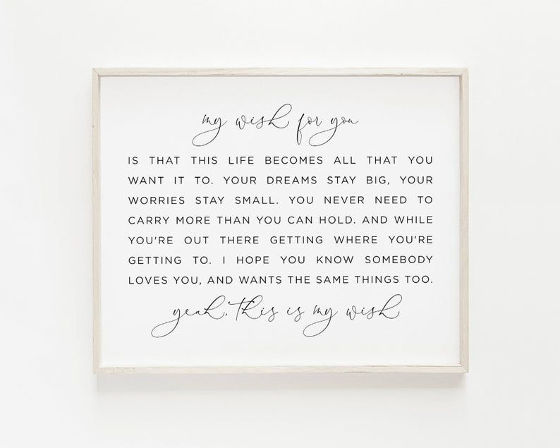 My Wish For You Sign Rascal Flatts My Wish Wall Art Song Etsy In 2020 My Wish For You Wishes For You Rascal Flatts Lyrics