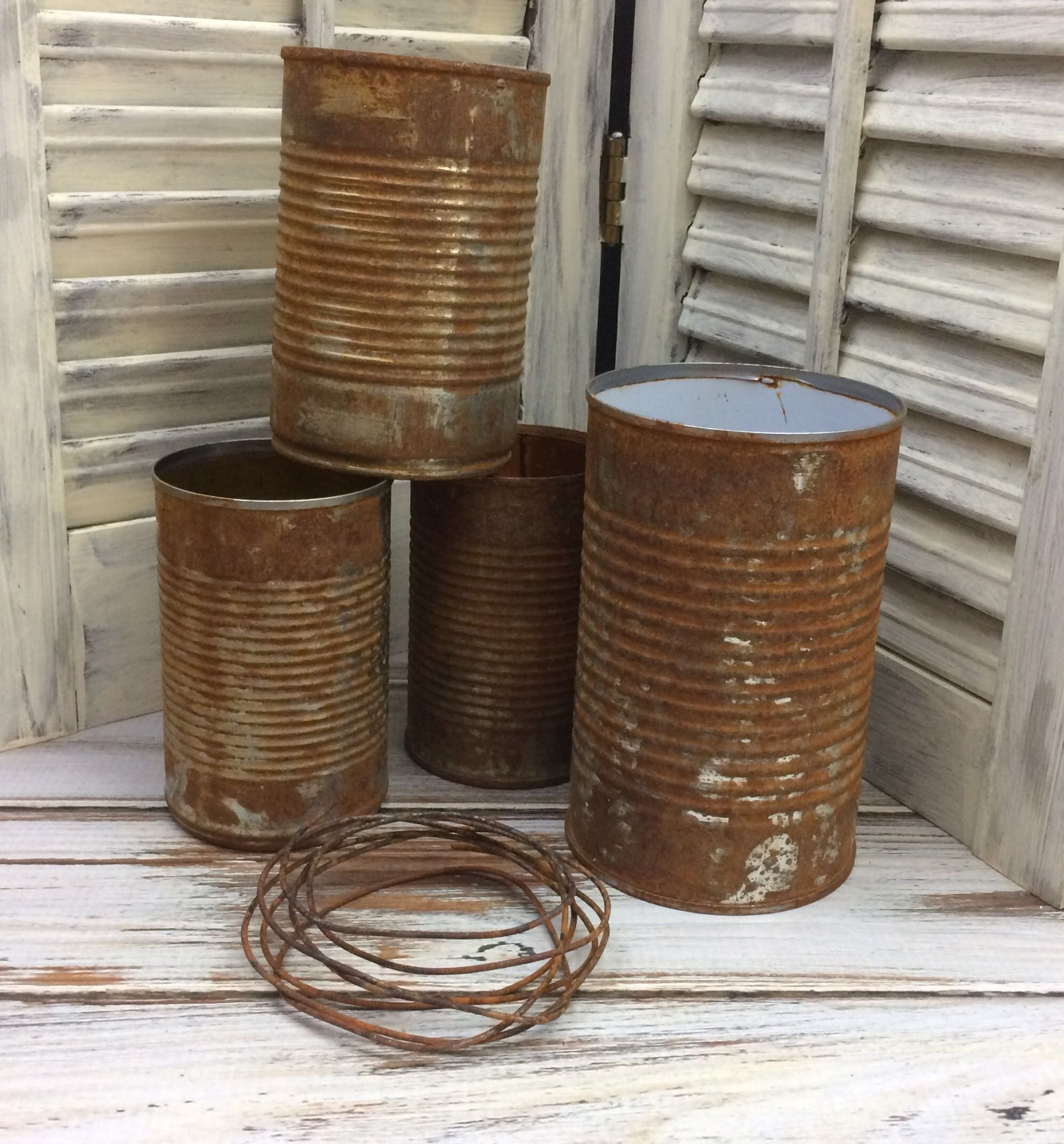Rusty tin craft supplies - How To Rust Tin Cans For Other Craft Projects Rusty Tincans
