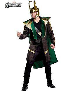 mens deluxe avengers loki costume cheap cartoon halloween costume for mens - Deluxe Halloween Costume