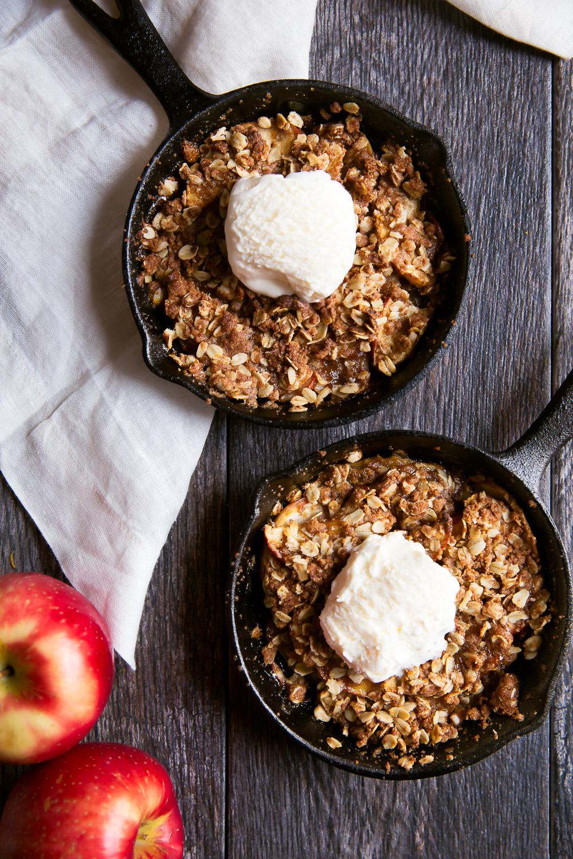 Vanilla Coconut Milk Caramel Apple Crisp For Two Recipe