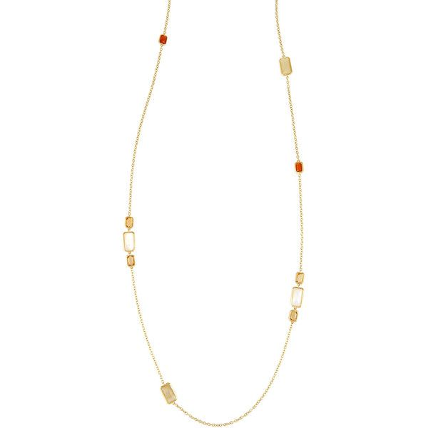 Ippolita 18k Rock Candy Gelato Long Station Necklace in Casablanca ($1,575) ❤ liked on Polyvore featuring jewelry, necklaces, multi, rock jewelry, 18 karat gold jewelry, rock necklaces, ippolita jewelry and 18k necklace