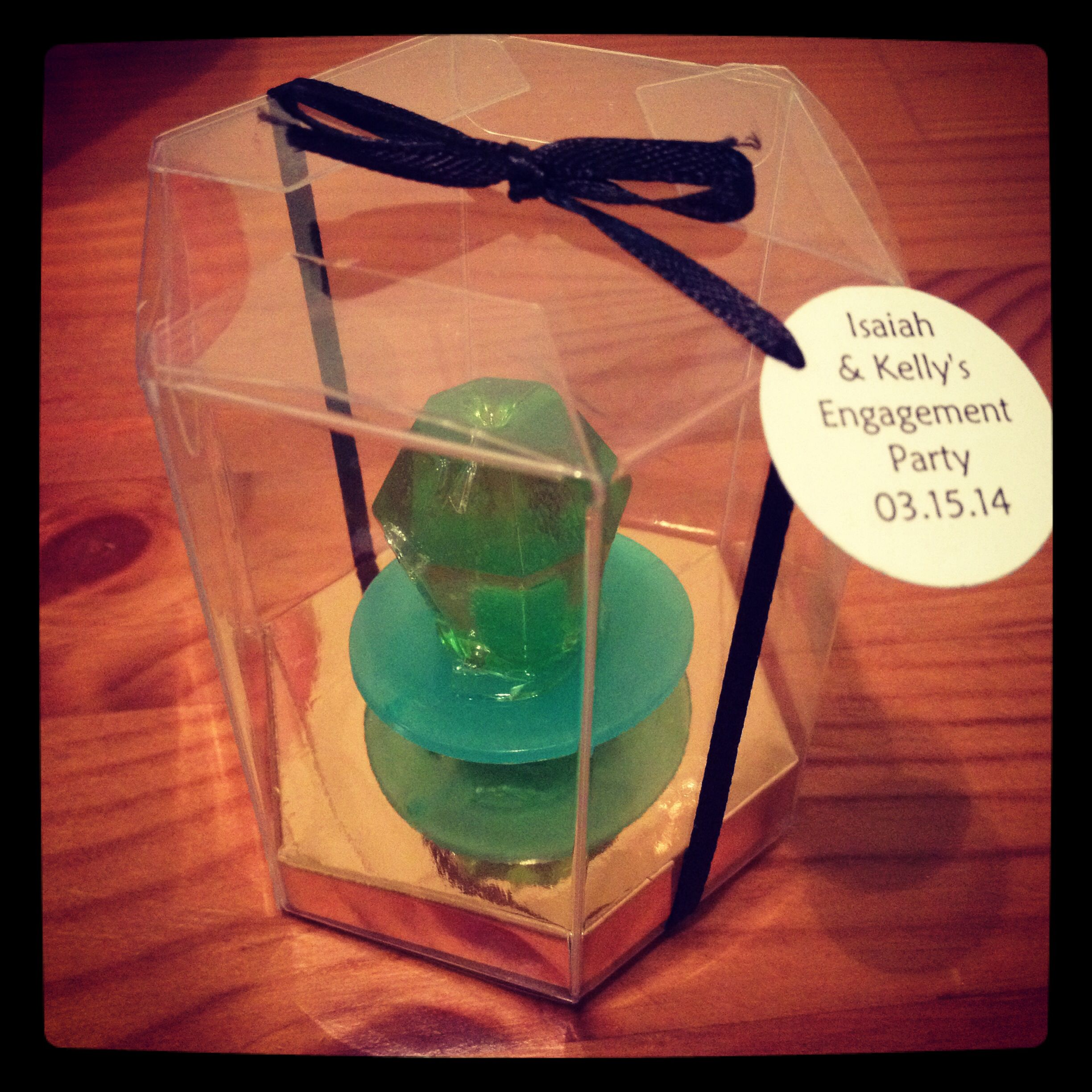 Ringpop Engagement Party favor.