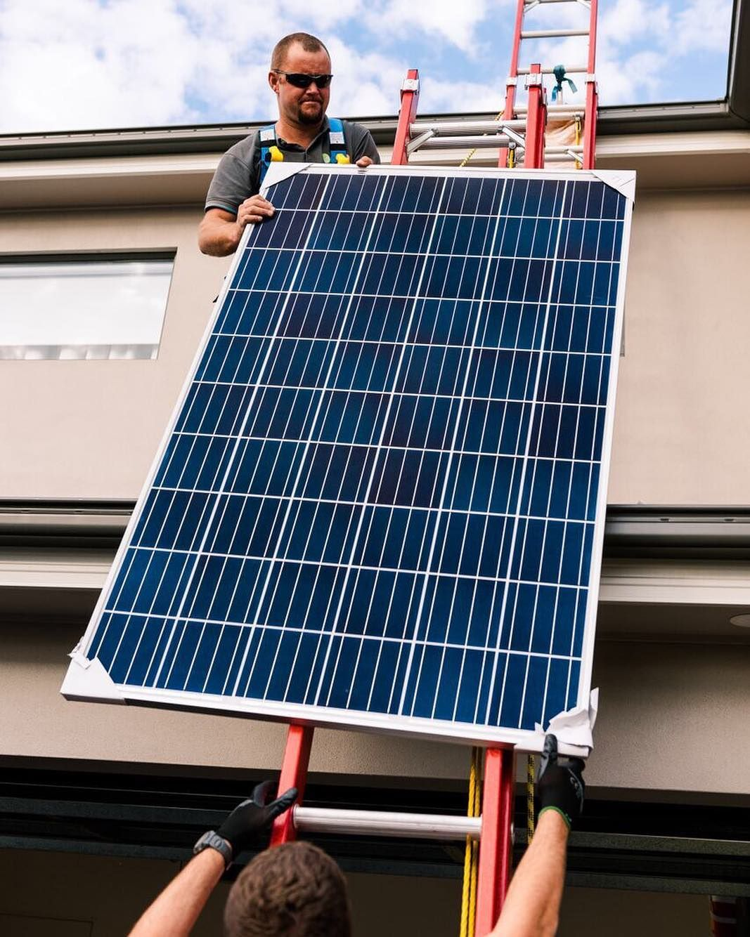 Our Solar Panels Are Super Light And Only Weigh About 11 15kg Per Panel Sorry Ghs Installing Team You Re Still Going T Solar Energy Diy Solar Roof Solar Panel