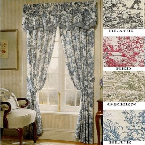 Ellis Curtain Victoria Park Toile 68 Inch By 54 Inch Tailored