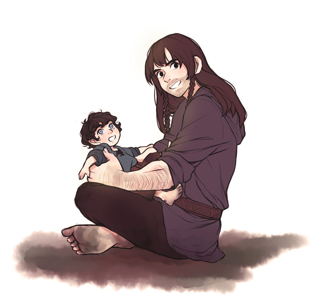 Kili with kid!Frodo. This is so adorable