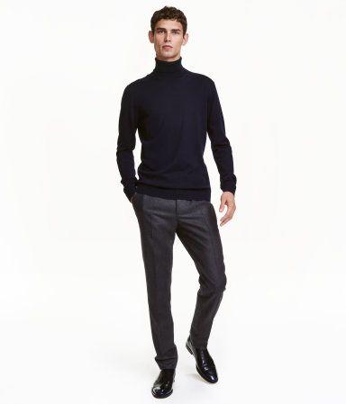 09d233bae8 Wool Suit Pants Slim fit | Dark blue | Men | H&M US | Men's clothing