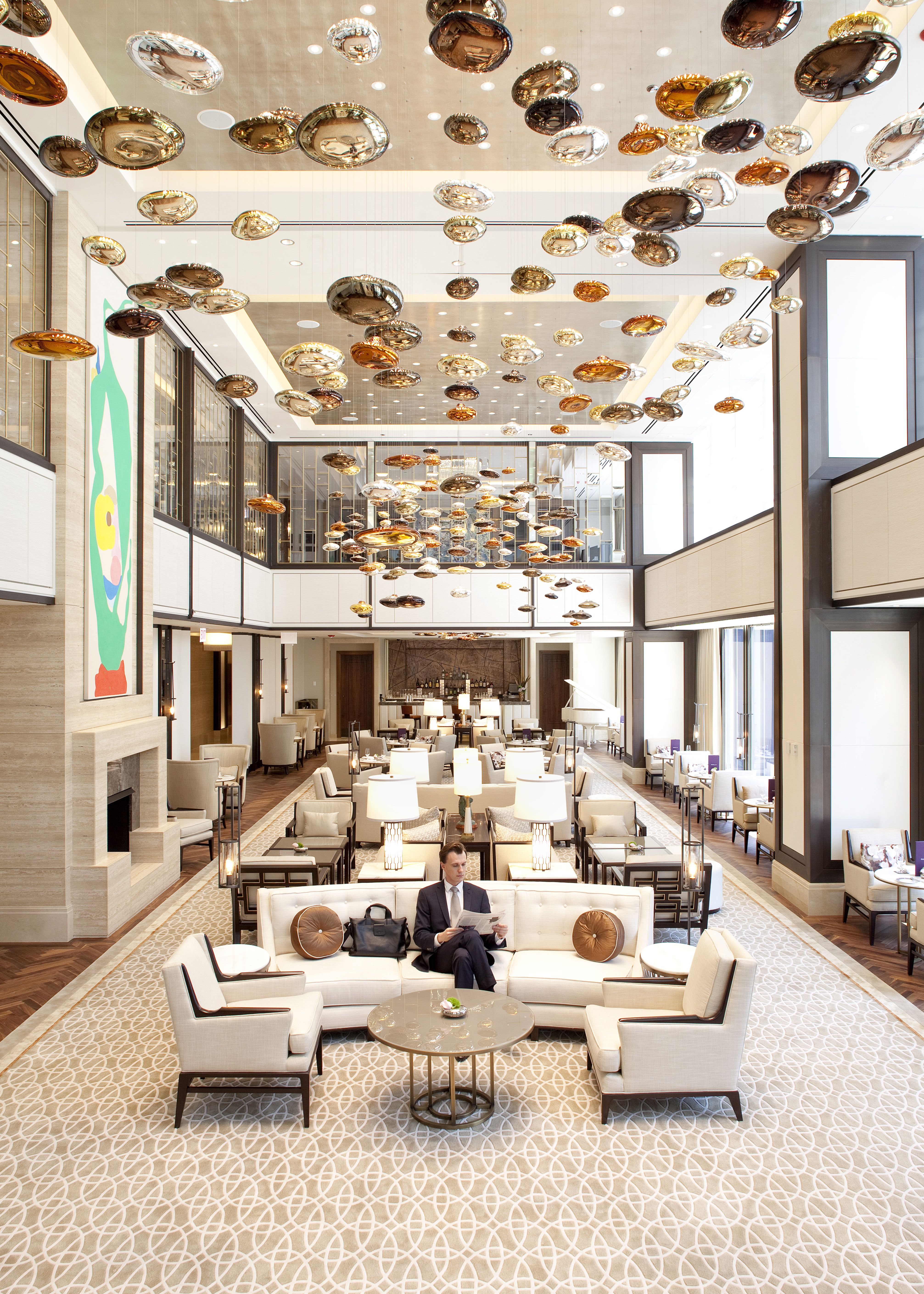 The langham hotel in chicago is classy elegant and has for Hotel decor chicago