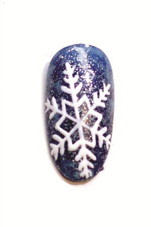 Embossed Snowflake Nail Art - Nails Magazine