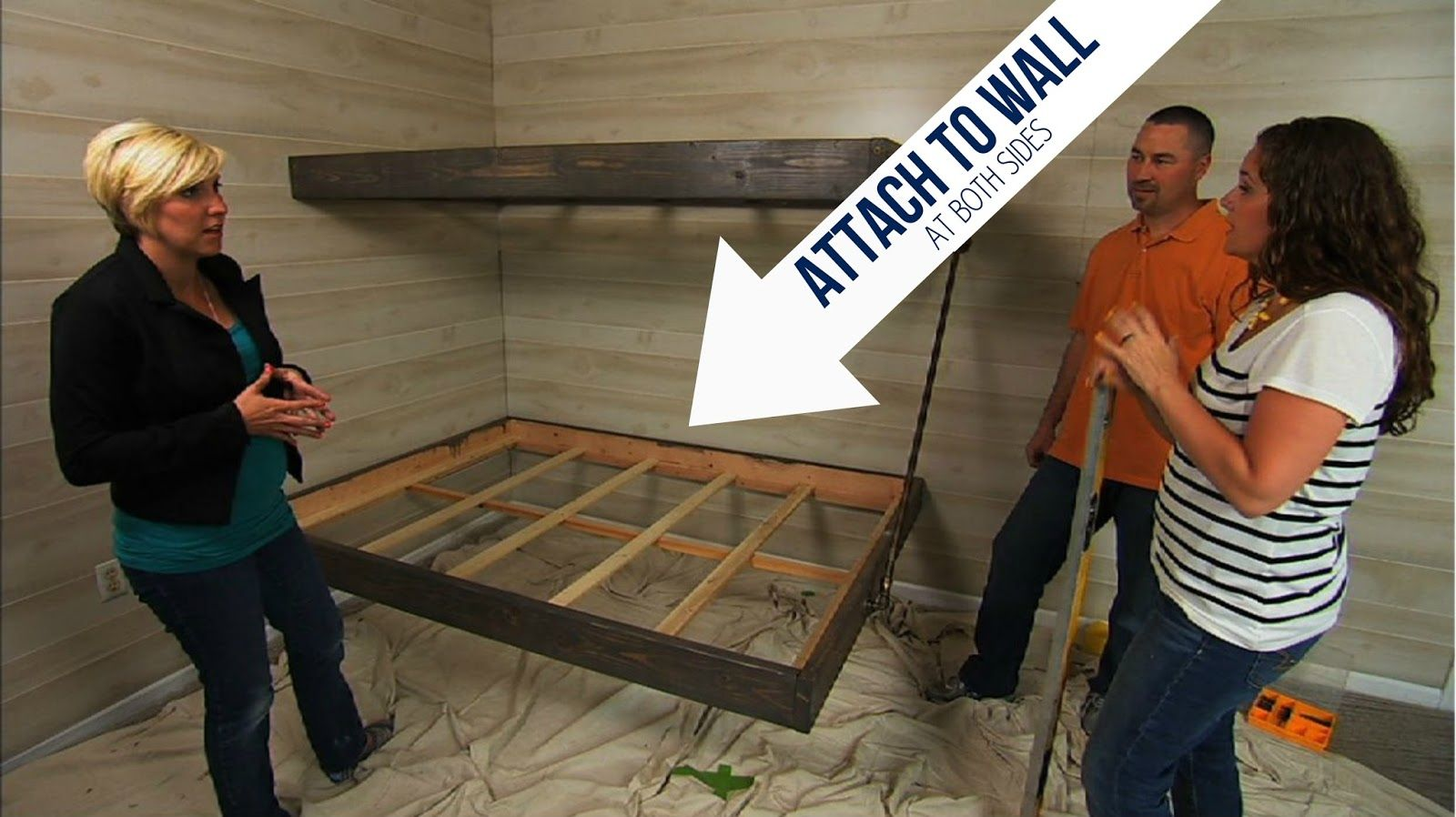 diy bunk bed   ... we don t want our floating bunk beds to turn ...