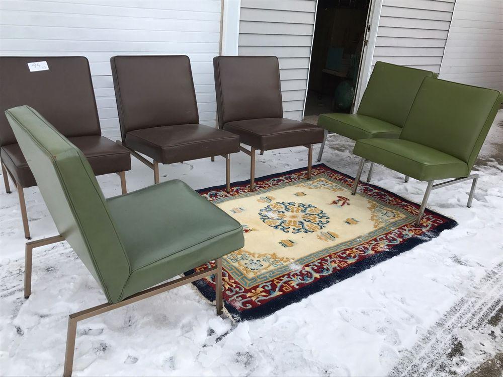 Vintage Modern Chair Chrome Brown Or Green Vinyl Waiting Room Chair  Industrial #MidCenturyModern #Howel