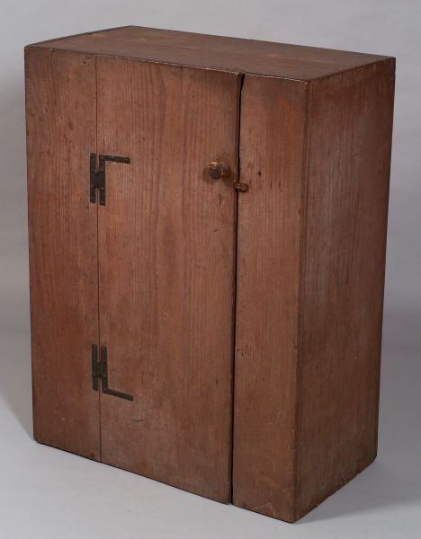 Painted Chestnut Cupboard, probably Massachusetts,