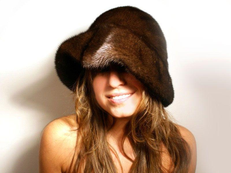 MINK floppy hat!