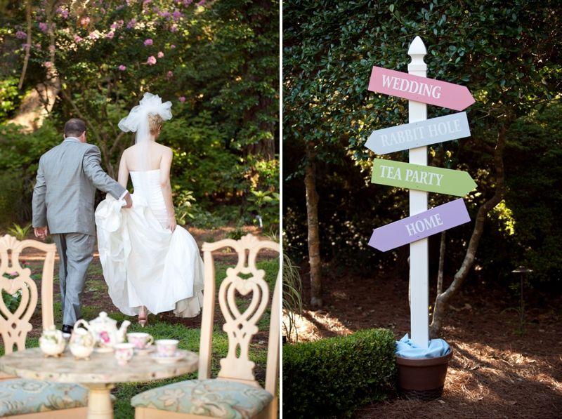 "Whimsical ""Alice In Wonderland"" Wedding"