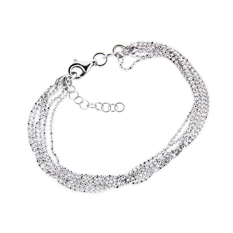 Zilveren Armband facet kralen