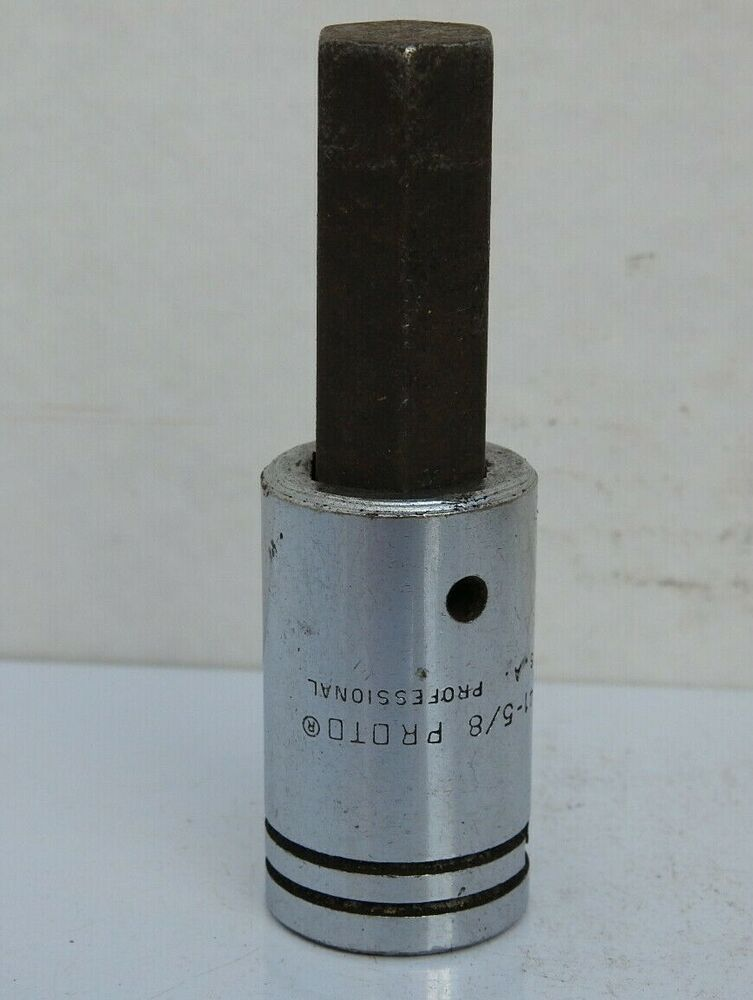 Proto 5 8 Standard Hex Socket Driver 5441 1 2 Drive Made In Usa Snapon Socket Drivers Tools For Sale Vintage Tools