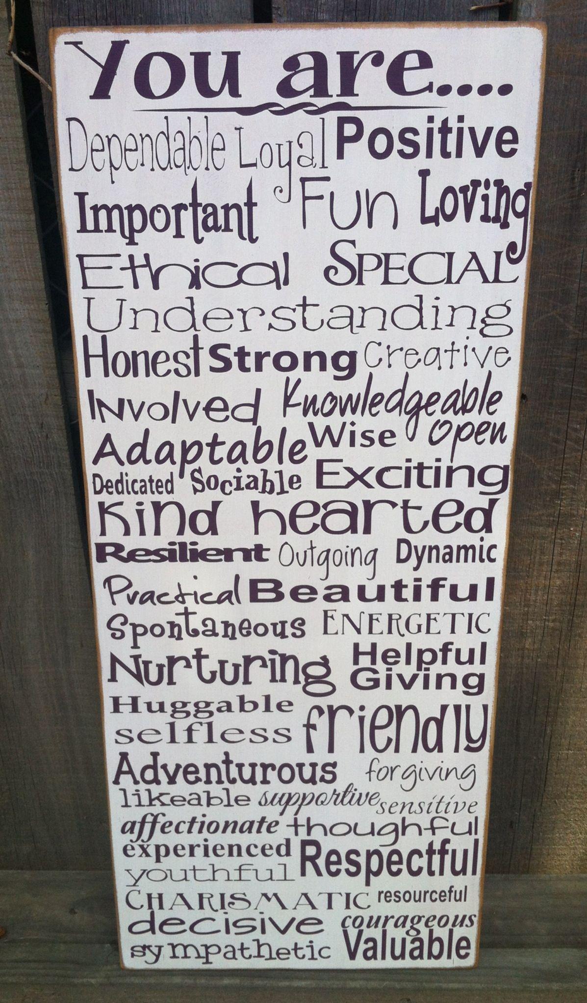 A 50th b day gift...50 words describing the birthday girl
