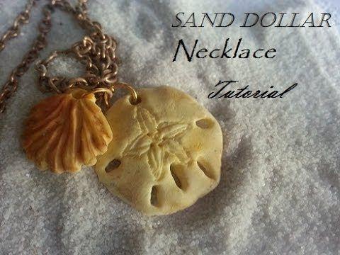 Sand Dollar Necklace Tutorial Polymer Clay Polymer Clay Crafts