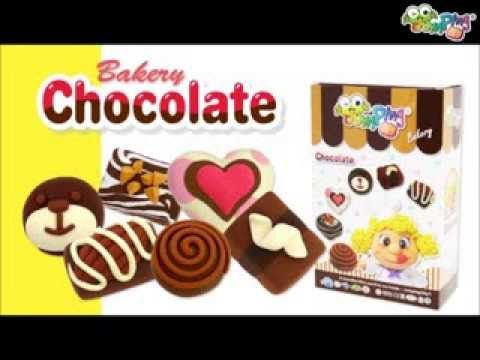 Jumping Clay Tutorial - How to make a Chocolate Tray Set - YouTube