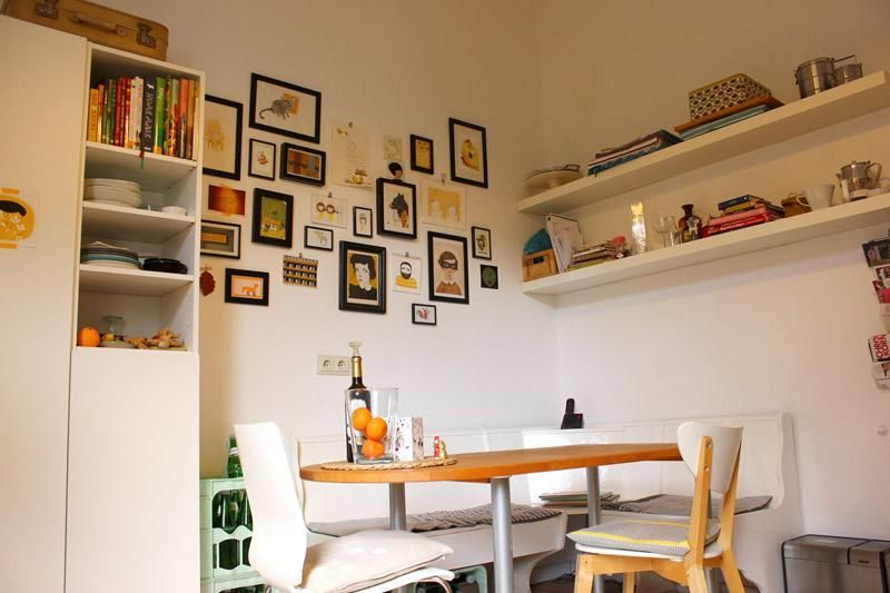 schöne modern eingerichtete küche in düsseldorfer wg