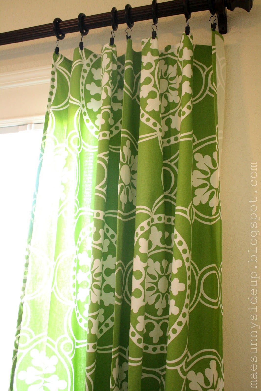 X tablecloths as curtain panels for sliding glass doors So