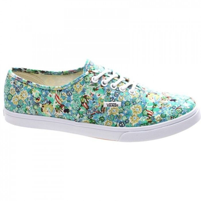 1eb12d96a9 Vans Kids Girls Ditsy Floral Pool Green Authentic Shoes