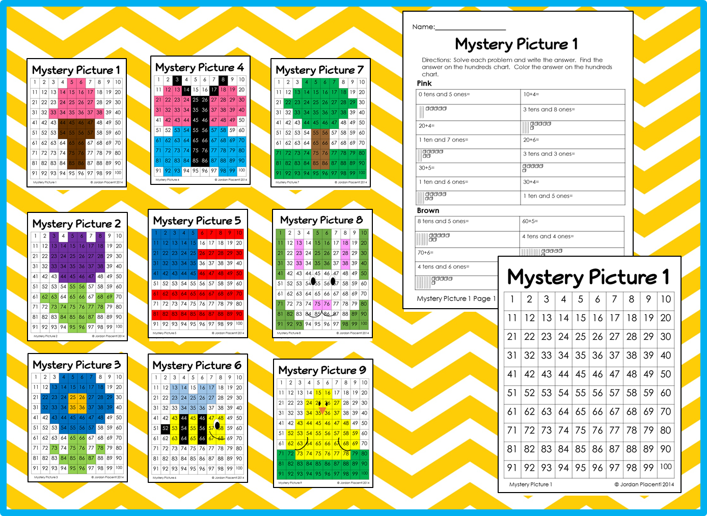 Spring And Summer Math Place Value Color By Number 100 S