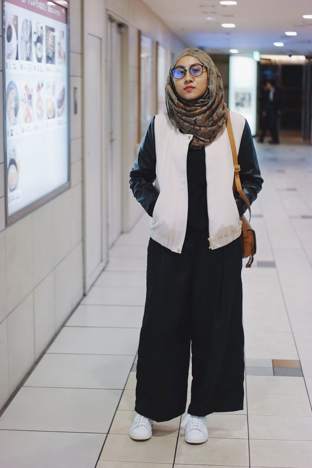 Leather jacket hijab - Find This Pin And More On Daily Hijab Style Faux Leather Sleeves Bomber Jacket