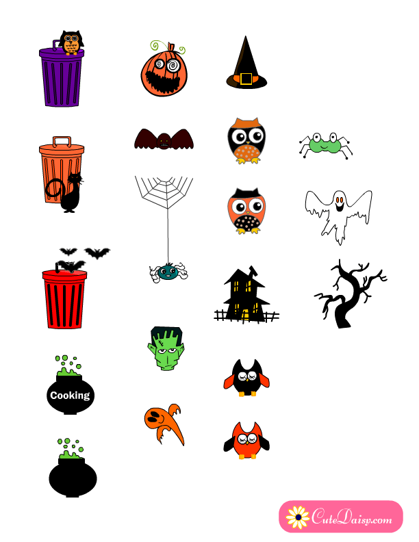 Free Printable Planner Stickers for Halloween